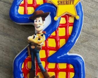 Toy Story Birthday Candle, Jessie Birthday Candle, Woody Birthday Candle, Buzz Lightyear Birthday Candle