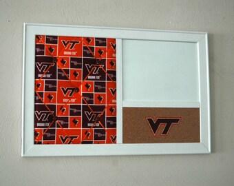 Virginia Tech French Memo Board, Corkboard & Whiteboard Dry Erase  Dorm Decor Wall Organizer