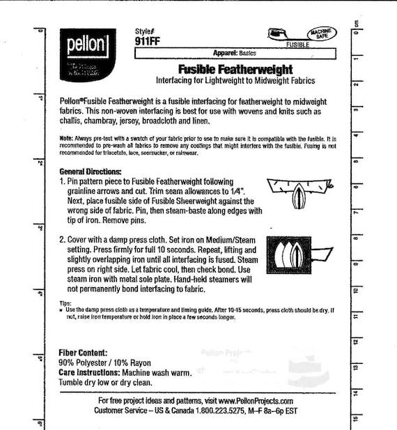pellon fusible interfacing instructions