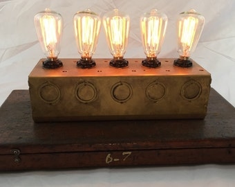 Steampunk Induustrial Lamp  One of a Kind!