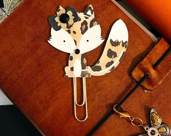 Lady B Fox PaperClip | Planner Clip | Planner Page Marker | Planner Accessory