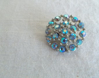 Vintage Aurora Borealis Button For Crafts // 4
