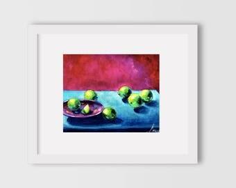 kitchen wall decor, kitchen art print, kitchen wall art, lime green, lime green decor, prints for kitchen, prints wall art, food art print