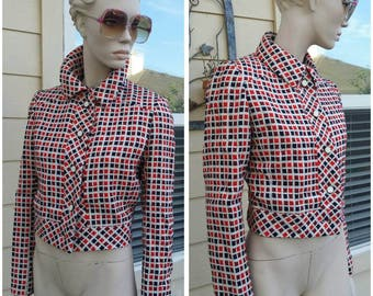 vintage 70s wool short jacket by BH WRAGGE lining jacket