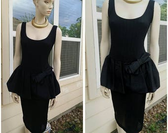 Vintage 80s black dress size 5/6 by Hearts