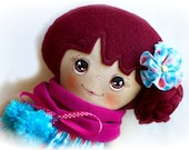 Cloth doll, Dress up rag doll for kids, Handmade fabric doll, Soft doll, Gift for her, Art doll, OOAK doll, Cute doll