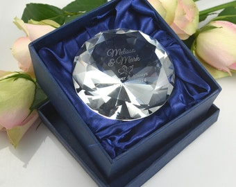 Glass Crystal Diamond Paperweight