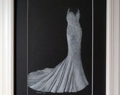 11x14 Wedding Gown Drawing