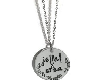 Personalized OTP necklace - hypoallergenic stainless steel and aluminum // anime fandom gift geekery