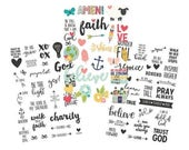 Simple Stories - Faith Collection - Clear Stickers - 79 pieces - 7725