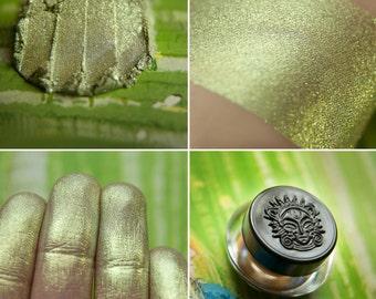 Eyeshadow: Spring Lady - Druidess. Soft green shimmering eyeshadow by SIGIL inspired.