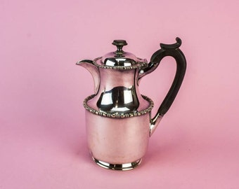 Antique Spectacular Small Silver Plated Metal Beaded Unique COFFEE POT Edwardian Atkin Brothers 1910s English LS