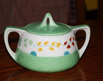 R.S. China Sugar Bowl - Hand Painted - Germany