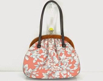 ViNTAGE KIMONO HAND BAG - Lovely Cherry Blossom - E42a