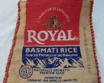 Royal Basmati Rice Zippered Bag with Handles
