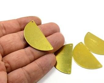 50 Pcs. Raw Brass 20x40 mm (0.80 mm Thick , 20 Gauge ) Semi 1 Hole Blanks