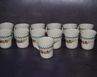 "Thirteen Vintage CORELLE ""FARM FRESH"" Coffee Mugs Retired Pattern"