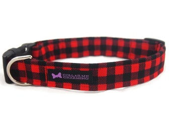 Plaid Dog Collar Brawny