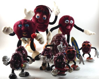California Raisins - Lot of 10 - c1987-88- Maufactured by Applause