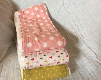 Create your own burp cloth set - Baby Shower Gift - Baby Gifts - cloth diaper burp cloths