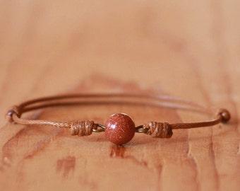 Sandstone bracelet,String bracelet,Sandstone Tan string Bracelet,Talisman,Amulet bracelet,Protection bracelet,Simple bracelet,Brown bracelet