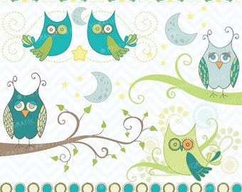 80% OFF SALE Owl clipart commercial use, vector graphics, digital clip art, digital images - CL439