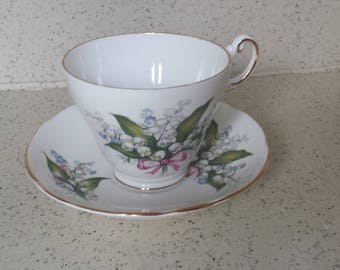 Bone China Tea Cup with Lily of the Valley