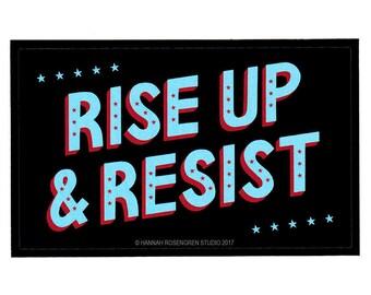 Rise Up & Resist Sticker
