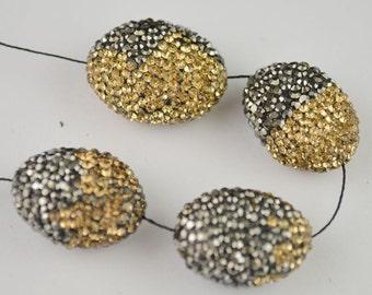 5pcs Mixed Style Paved Crystal Rhinestone Loose Beads For Making Bracelet Jewelry Making