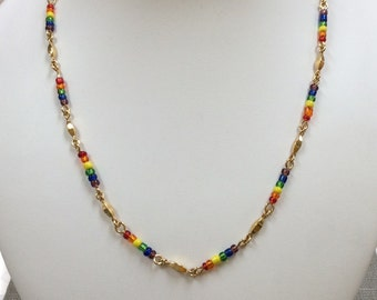 Handmade Necklace and Bracelet Set With Multi Color Beads!!!