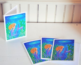 Looking Up - Mermaid Art Cards - Positivity Is What We ALL Need!!