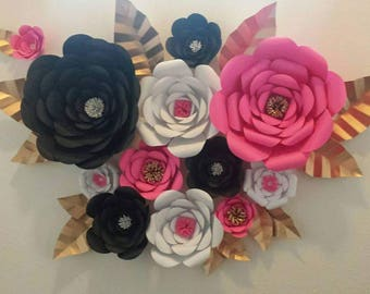 DIY Large 3D Paper Flower Template, Paper flower Stencil, Paper Flower Backdrop, Backdrop Flowers