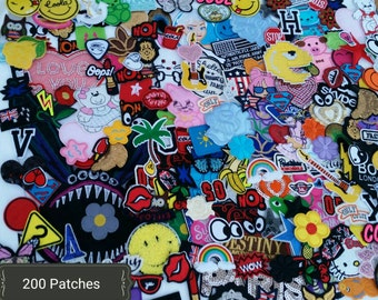 SALE 25, 50, 75, 100, Or 200 Patches! Huge Variety LOTS. Used patches. Iron on patches. New patches. Sew on. Random selection