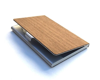 TIMBER Wood Skin Business Card Holder - Free US Shipping