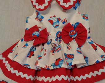 4th of July Owl dress
