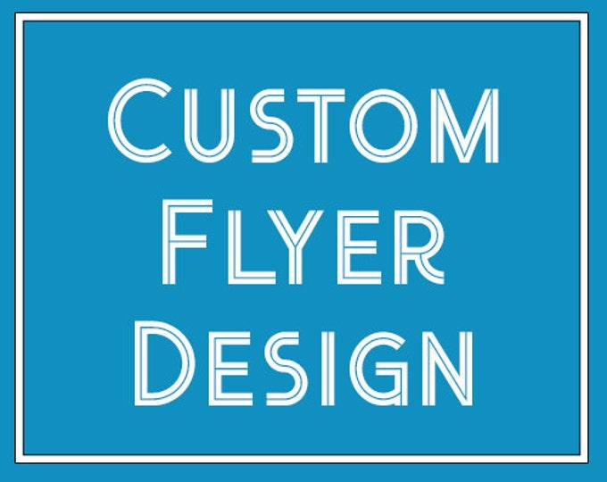 Custom Flyer Design, Event Flyer Printable, School Flyer, Organization flyer, 8.5x11 Flyer Design, Custom Flyer, Flyer Design