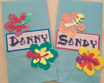 Moana birthday party goodie bags with names set of 12