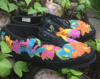 Unique Beaded 90's Sneakers
