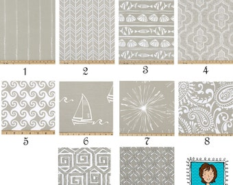 "Cove CURTAINS -  Beige Curtains - Premier Prints - Pair Drapery Panels - 24"" / 50"" Wide - Rod Pocket - Geometric Curtains"