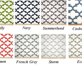 """Moroccan CURTAINS -  Premier Prints Fabric - Custom Drapery Panels - 25"""" Wide - Scroll - Various Lengths - Grommets & Lining Options"""
