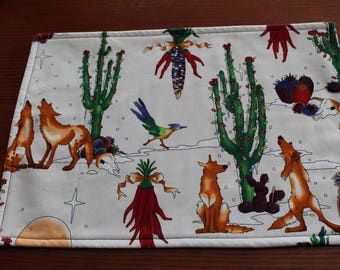 Southwestern Placemats - Coyote Placemats - Reversible - Set of 4