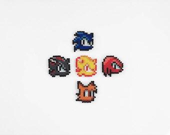 Sonic the Hedgehog Perler Bead Sprites
