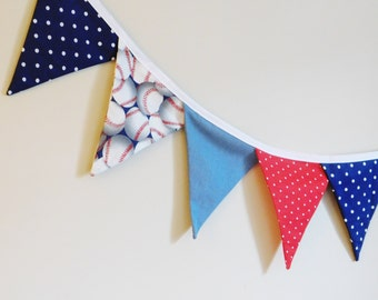 Sport Theme Fabric Banner or Bunting