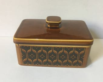 Hornsea Heirloom Butter Dish with Lid, Brown, 1972