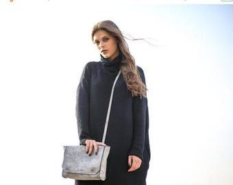 Sale, Mini Shoulder Bag, Mini Crossbody Bag, Small Purse, Small Satchel - Grey Blur