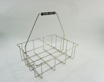 Metal Basket, 4 Individual Spaces, Basket w/ Handle, Industrial Looking Metal Basket, Divided Metal Basket,  FREE SHIPPING