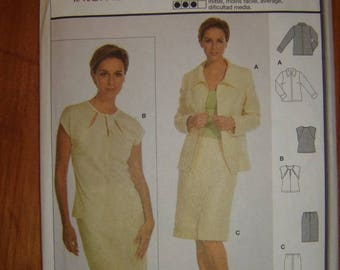Burda 8661-Woman coordinates semi fitted jacket, camisole and skirt. (7 sizes) 10 to 22