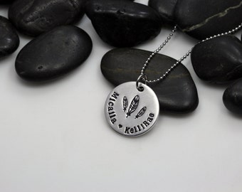 Personalized Feather Necklace
