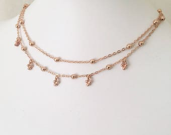 Thea - Gold, Silver or Rose Gold Necklace