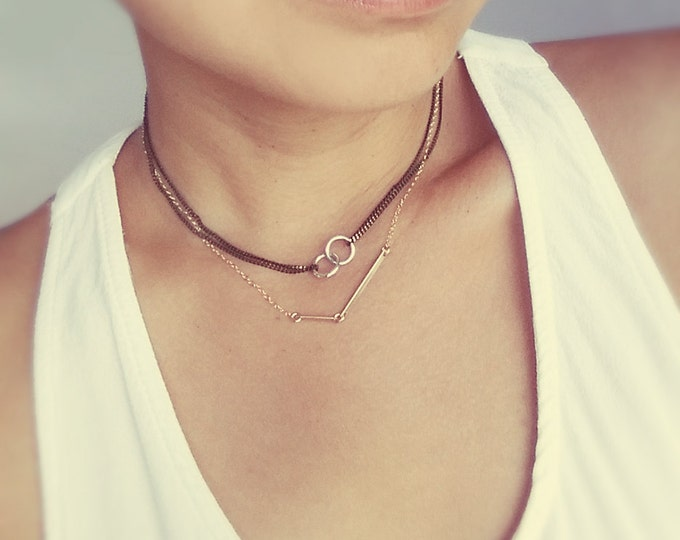 Sterling Silver Links Choker Style Necklace